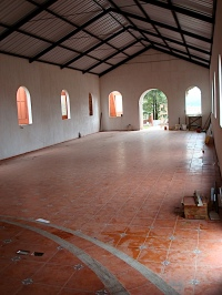 Inside the San Bernardino chapel.