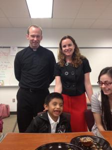 Fr. Michael, Meghan, Dinelson and a smidgeon of Grce