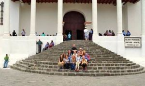 Oakland Catholic girls at Santiago Atitlan Church.